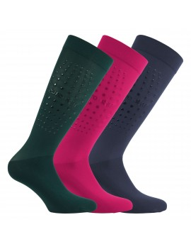 EURO-STAR pack de 3 calcetines con silicona (3 PARES)