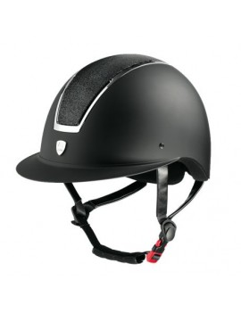 Casco TATTINI visera ancha con placa brillante